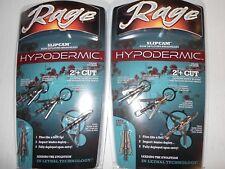 "@NEW@ 2- Rage Hypodermic 2"" Cut Slip Cam Expandable Broadheads! 100 grain #39100"