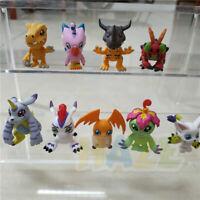9pcs Digital Monster Agumon Gabumon Piyomon Gomamon Mini Figure Model Present