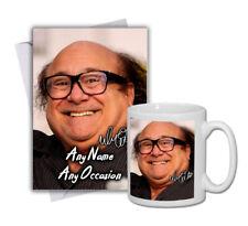 Danny DeVito 1 Mug & Personalised Greeting Card Gift Set