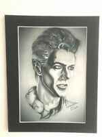 "David Bowie original Art AP1 14"" x 11"" A4 Mounted Print"