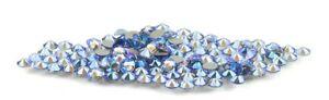 Light Sapphire Blue Shimmer Swarovski Crystal Flatback Rhinestone 144PCS