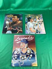 LOT OF 3 Vintage Legends Sports Memorabilia Magazine