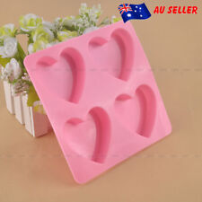 Silicone 4 Heart Cake Chocolate Cookies Baking Mould Ice Cube Soap Mold Cute