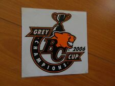 2006 BC Lions sticker GREY CUP CHAMPIONS CFL