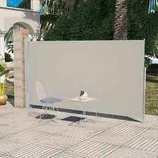 vidaXL Wind-/Zonnescherm Uittrekbaar 160x300 cm Crème Windscherm Tuinscherm