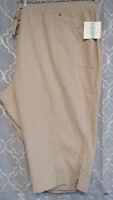 Croft & Barrow Woman's Stretch 3X Capri Pockets Pants Mid Rise New Tags
