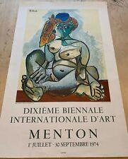 """picasso lithograph """" Femme Nue Au Bonnet Turc """""""