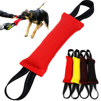 Young Dog Bite Tug Toy With Two Handle K9 Training Pillow Strong Chewing Durable