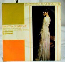 Dionne Warwick - Italian Scepter 45 RPM w/ PS- La Vita Come Va /Windows Of World