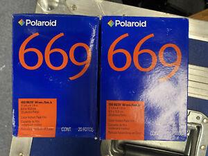Polaroid 669 Instant Film 40 Photos ISO 80 - Unknown Storage 2 boxes. 02/2009