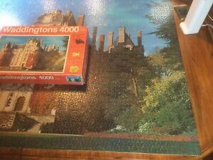 """Vintage Waddingtons 4000pc Puzzle """"Chateau-de-Brissac, France"""" 1979 No. 101-1"""