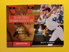 MATT PURKE (SP) RC ROOKIE AWARD WINNER #8 NATIONALS - 2011 DONRUSS ELITE