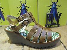 FLY London Wedge Slingbacks 100% Leather Heels for Women