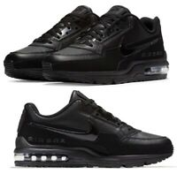New NIKE Air Max LTD 3 Leather athletic sneakers Mens triple black all sizes