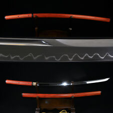 "41"" JAPANESE SAMURAI SHIRASAYA SWORD KATANA Clay Tempered UNOKUBI-ZUKURI Blade"