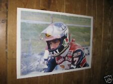 Barry Sheene Motor Bike Legend Awesome POSTER Helmet