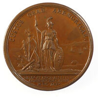 France Louis XIV DEFEAT OF THE ENGLISH & DUTCH OFF BREST By Mauger copper 41mm