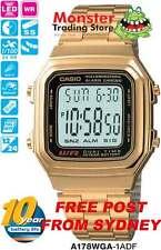 AUSSIE SELLER CASIO GENTS VINTAGE RETRO GOLD A178WGA-1A A178WGA A178WA A178 A168