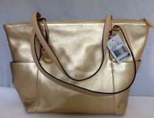 Michael Kors NWT Jet Set Leather Tote In Pale Gold