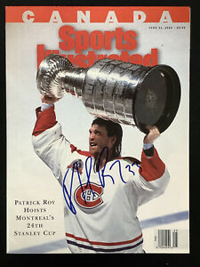 Patrick Roy Signed Sports Illustrated 6/21/93 No Label Hockey Canadiens Auto JSA