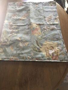 Pottery Barn Vanessa Standard Pillow Sham Blue Floral Linen/Cotton!