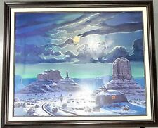 "Teddy Draper Navajo Original ""WINTER SKIES"" Oil Painting Award Winning Artist"