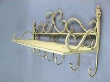 Wandregal mit Hakenleiste* für Terrasse und Wohnung * Hängeregal * 62 cm breit