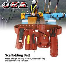 Scaffolding Leather Tools Belt 5 IN 1 Pockets Pouch Spanners Tape Level Holder S