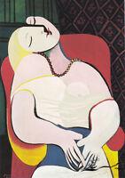 Frau sitzt auf dem Stuhl Kunstkarte Pablo Picasso