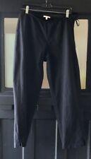 Eileen Fisher Sz M Black Stretch Capri Pants-Organic Cotton & Spandex / Side Zip