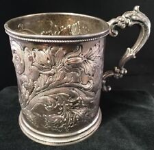 Rare Southern Coin Silver Mug / Cup By Young & Co. New Orleans