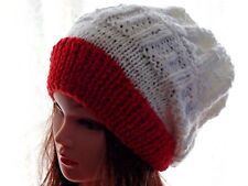 Hand Knitted, Women's, Girls Modern Slouchy beanie, warm hat for the winter