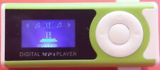 *ANGEBOT_NEU*  Design Mini Clip mp3 Player grün,  DISPLAY 32GB SD-Slot aufladbar