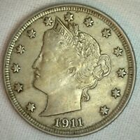 1911 Liberty Head V Nickel XF US Coin Copper