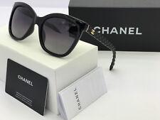Sunglasses-Oversized Polarized@Chanel@@Black Black Gold-Logo ridium