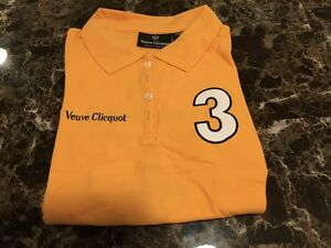 Veuve Clicquot signature Shirt,  Polo Classic **AWESOME** LADIES SIZE MEDIUM