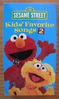 Sesame Street KIDS FAVORITE SONGS 2nd VOLUME VHS VIDEO 2001 Elmo Zoe