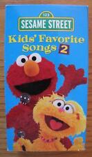 Sesame Street KIDS FAVORITE SONGS 2nd VOLUME VHS VIDEO 2001 Elmo Zoey