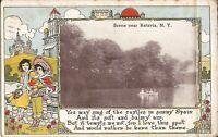 Batavia, NEW YORK - 1911 - rowboat