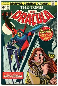 The Tomb of Dracula 26 FN 5.5 Marvel 1974 Bronze Age Gene Colan Gil Kane