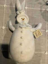 Handmade Limited Ed. Bunnies By The Bay Snowman Bunny Twinkle Toes 1998 Winter