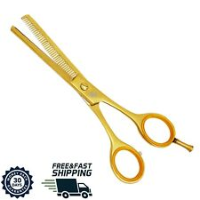 Forbici sfoltire da Barbiere Parrucchiere Per capelli  Acciaio inox colori Oro