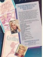 Daryl Hannah Jamie Lee Curtis 1987 Ad- Turner Premium One