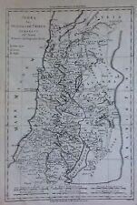 MIDDLE EAST/ ORIENTE MEDIO. JUDEA MAPA ORIGINAL.Rigobert Bonne, 1787
