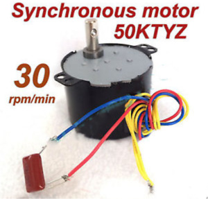 Synchronous Motor 50KTYZ AC 110V 120V 50/60Hz 30rpm/m CW/CCW 6W Torque 2.8kgf.cm