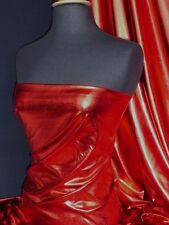 Red Wet Look Stretch Lycra Fabric NG253 RD