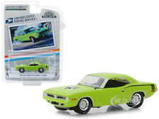 "1970 PLYMOUTH HEMI 'CUDA LIME GREEN ""USPS STAMPS"" 1/64 DIECAST GREENLIGHT 30069"
