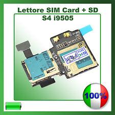 Lettore SCHEDA SIM + MICRO SD Card per i9505 SAMSUNG GALAXY S4 FLAT FLEX Memory