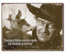 John Wayne Courage American Legend Western Cowboy Hollywood Decor Metal Tin Sign