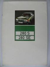 Catalogue / brochure Mercedes - Benz 280 S / 280 SE de 08 /1972
